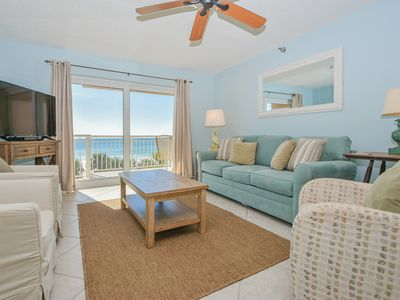 Photo for COASTAL condo overlooking the BEACH & community POOL! UPDATED furnishings! 🛋️