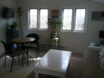 Living/dining area.