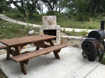 Photo for A private Texas Hill Country cabin near the Frio, perfect for single families.