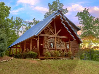 Photo for Luxury 2 bedroom cabin in beautiful resort setting with 2 master suites