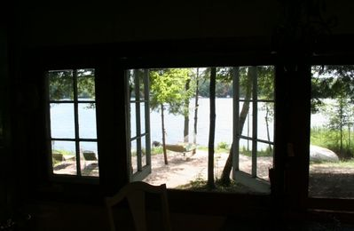 View of the Lake in the Cabin