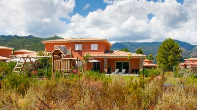 Photo for LECCI: VILLA F4 CLIMATISEE NEAR SEA AND MOUNTAIN FOR 8 PEOPLE