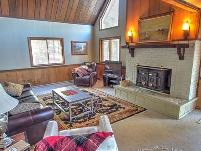 Photo for Rustic Cabin sleeps 13-15 on flat forested 3-acre lot 15 mins to Ned or Blackhawk