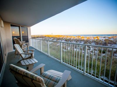 Photo for Beautiful Gulf Front 2 Bedroom / 2 Bath Beach Condo at Starboard Village #212