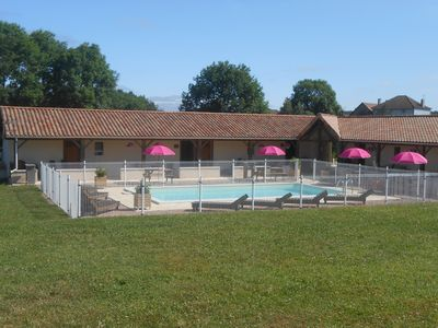 Photo for Family apartment Passiflora in the Dordogne, with swimming pool&magnificent view