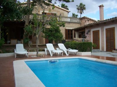 Photo for MALLORQUINA HOUSE IN PALMA WITH GARDEN, POOL AND BARBECUE