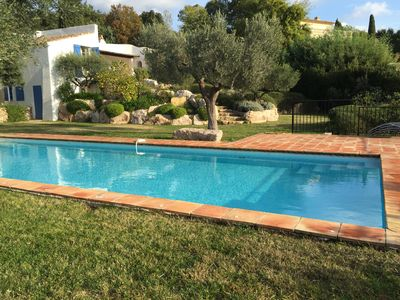 Photo for Beautiful villa on the heights of Grimaud - View of the bay of Saint Tropez