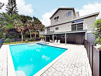 Photo for New Listing! Spacious Siesta Key Paradise w/ Private Pool - Near Shell Beach