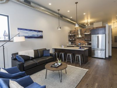 Photo for Immaculate condo steps to shops, restaurants, Whitefish River and Whitefish Lake