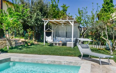 Photo for Large apartment with pool walking distance to town. Welcome aperitif included.