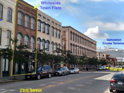 Whiteside Town Flats in Galveston's Historical Downtown Stand District