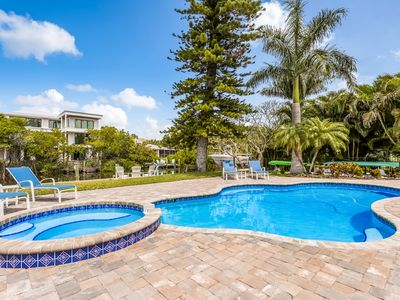 Photo for Canal Place:Canal-front Home w/Dock, Heated Pool, Hot Tub! 2 Blocks to the Beach