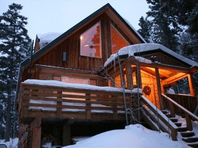Photo for Ski Season in Taos! Cabin in the Mountains, 1/2 mile from slopes, 3 buildings