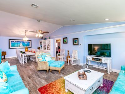 "Photo for Whimsical ""Purple Palms"" Beachside Haven – Newly Renovated!"