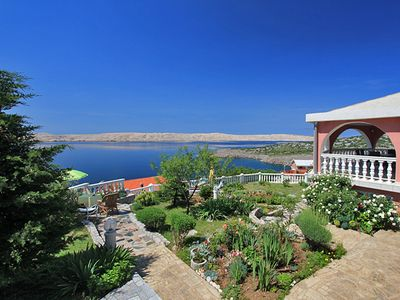 Photo for Apartment Mladen with breathtaking views of the sea and the island of Pag