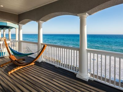 Photo for Beachfront! Private Heated Pool! Bikes Included! Sleeps 26!