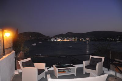 NIGHT VILLAGE VIEW FROM LOUNGE AREA