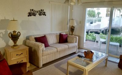 Photo for 5 min drive to Beach- Tiled Ground Floor- Pond View- Fully Furnished-  Specials!