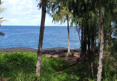 View from lanai as of October 2014. Great place to watch for whales.