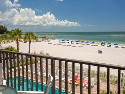 Photo for Beachfront Pool and Beautiful Patio.  Perfectly Located on the Sand in Madeira Beach.