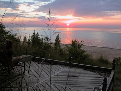 Photo for Lake Huron Waterfront Cottage - Privacy Plus Best Beach and Sunset