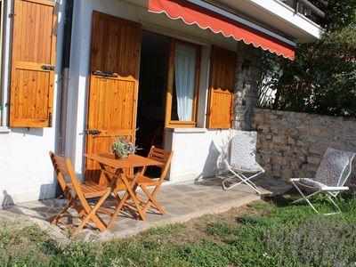Photo for Nice apartment for 4 pers. in San Zeno di Montagna on Lake Garda overlooking the lake