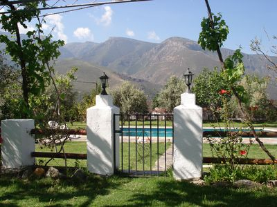 Photo for Fabulous rural house with a great pool and splendid views of the mountains.