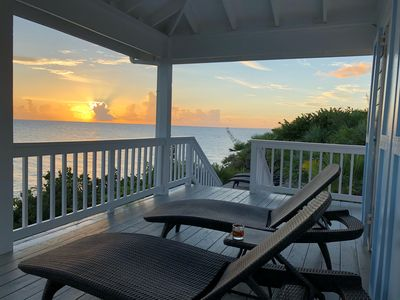 Photo for Private Waterfront On The Caribbean Cliffs With Carved Steps To The Water!