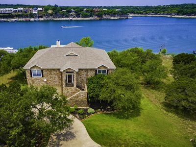 Photo for Texas Hill Country Style with Deep Water Private Boat Dock on Lake Travis,Texas!