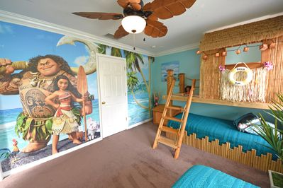 Maui & Moana's Polynesian playhouse!  Lots of toys & dress-ups for boys & girls!