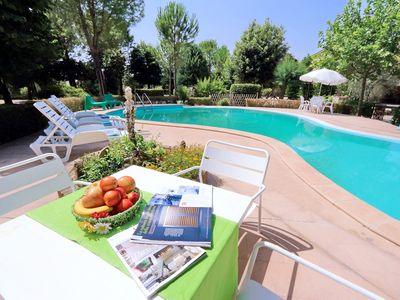 Photo for Villa with large park and swimming pool, surrounded by tall trees, scenic location