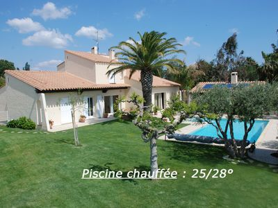 Photo for La Gaviota .House with heated pool Golf Saint-Cyprien beach