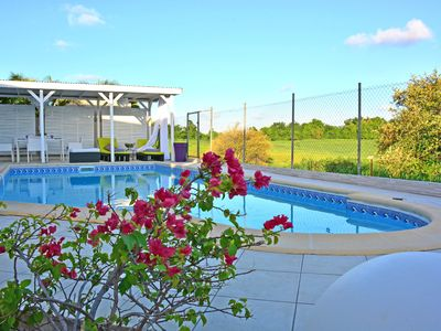 Photo for Amethyst comfortable villa, private swimming pool 9x4m salt, close to beaches