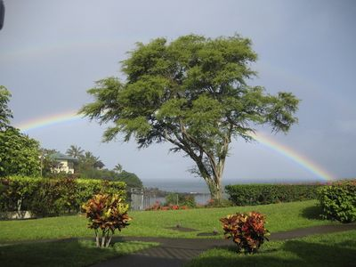 Morning rainbow from our lanai