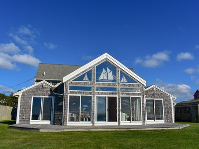 Photo for Beach Pine Rd 4. Spectacular oceanfront home overlooking Nantucket Sound