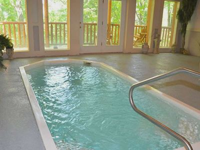 Photo for Enjoy your Private Indoor Heated Pool! Free wifi, pool table, hot tub, 3 miles from Pigeon Forge