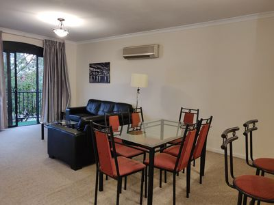 Photo for Homely Spacious 2 bedrooms in East Perth. Walk to Optus Stadium