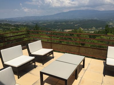 Photo for Fabulous Villa La Beaume with stunning & exceptional view on the Mont Ventoux