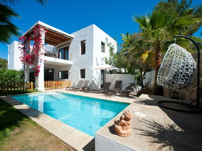 Photo for Luxury Modern Villa In St Eulalia, Walk To All Amenities & Beach, No Car Needed.
