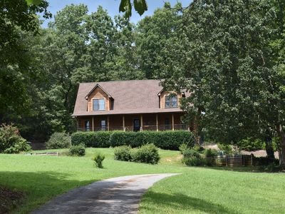 Photo for Beautiful log home less than 30 minutes from Tryon Equestrian Center