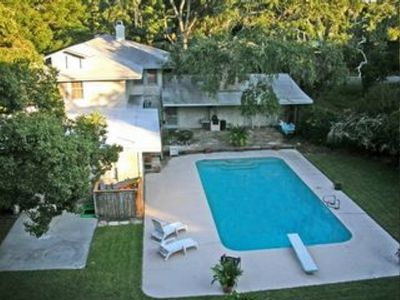 Photo for Beach Cottage in the Village with a  private pool