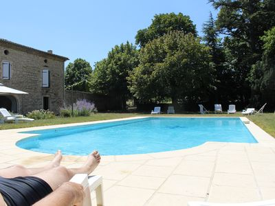 Photo for Mas converted into 4 bedrooms, swimming pool, inn .CRE CAPRINE, 2 prs, Drôme Valley