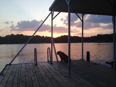 Sam taking in a beautiful sunset from his sanctuary.  He loved being there.