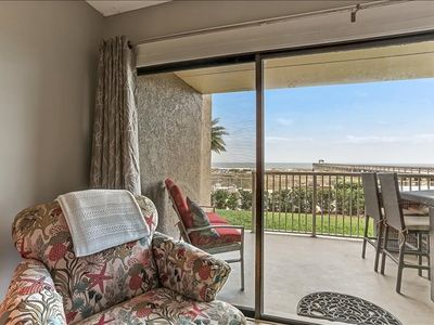 Photo for 1st floor oceanfront condo, easy beach access.  Enjoy the exclusive one of a kind fishing pier.