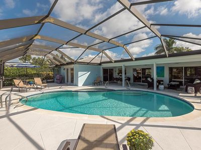 Photo for Pool Home Lake View in Park Shore Naples Walk to Beach & Waterside Shops