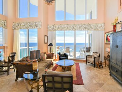 Photo for Beachfront Penthouse with 2 Levels and Extra Large Balcony! THREE KING BEDS!👓😎