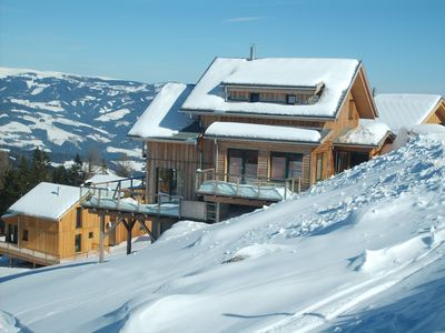 Photo for Feel-good luxury chalet above the clouds of the Lavanttals for skiing and hiking