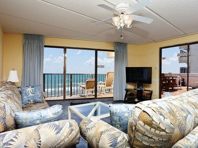 Photo for Florence II 502 - Beachfront Condo, Private Balcony with Hot Tub, Direct Ocean Access