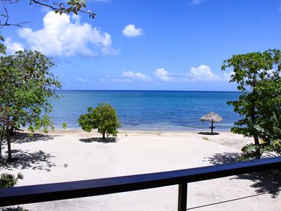 Photo for Elegant Custom Beachfront Villa With Floor To Ceiling Glass Walls, 180 Sea-View
