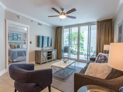 Photo for Waterscape A230 ~ Ground Floor 1BR + Bunkroom ~ 2017 Remodel ~Free Beach Service